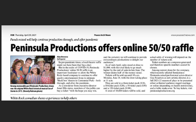 Peninsula Productions offer online 50/50 raffle